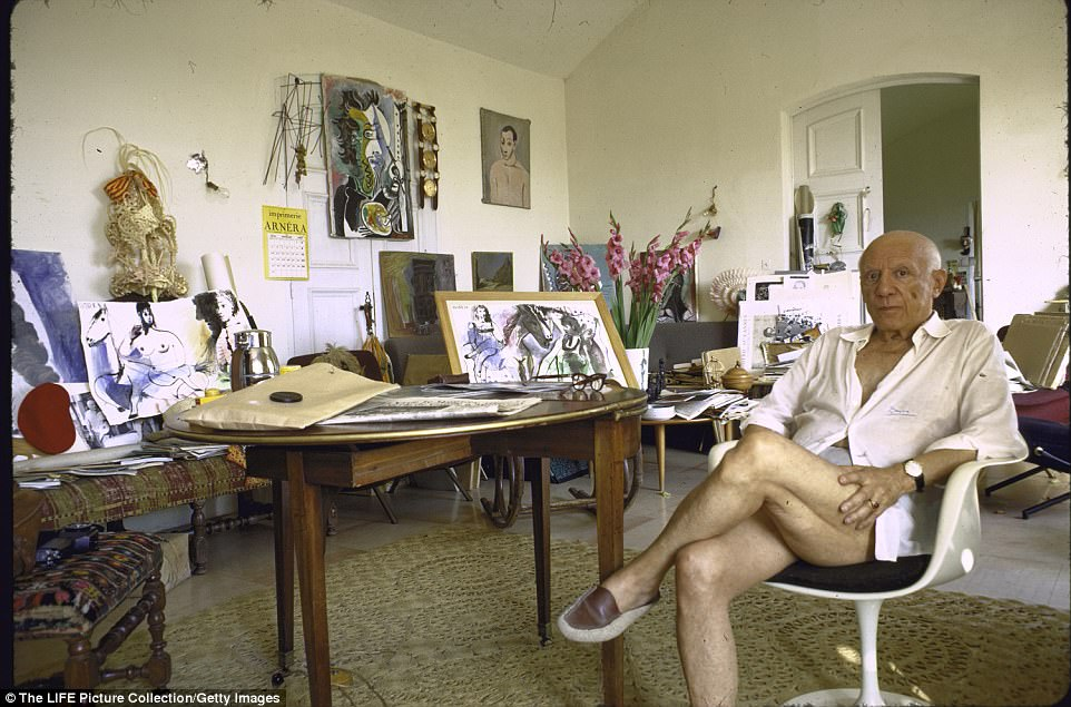 Pablo Picasso At His French Villa