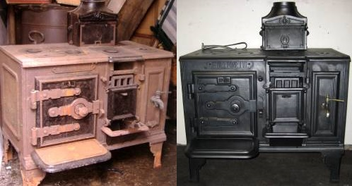 How to restore an aga stove range cooker before and after