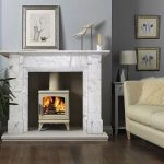 Antique Edwardian Fireplace Carrara Marble Chimney Piece