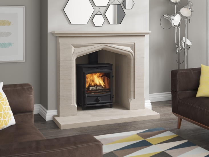 Antique Limestone Fireplace Surround UK