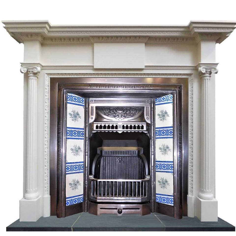 How To Replace an Antique Fireplace Restored Victorian Fireplace with Tiles Iron Fire Grate Antique