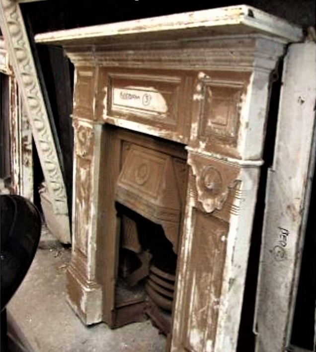 Cast Iron Antique Victorian Fireplace Restoration UK Project Before Photo