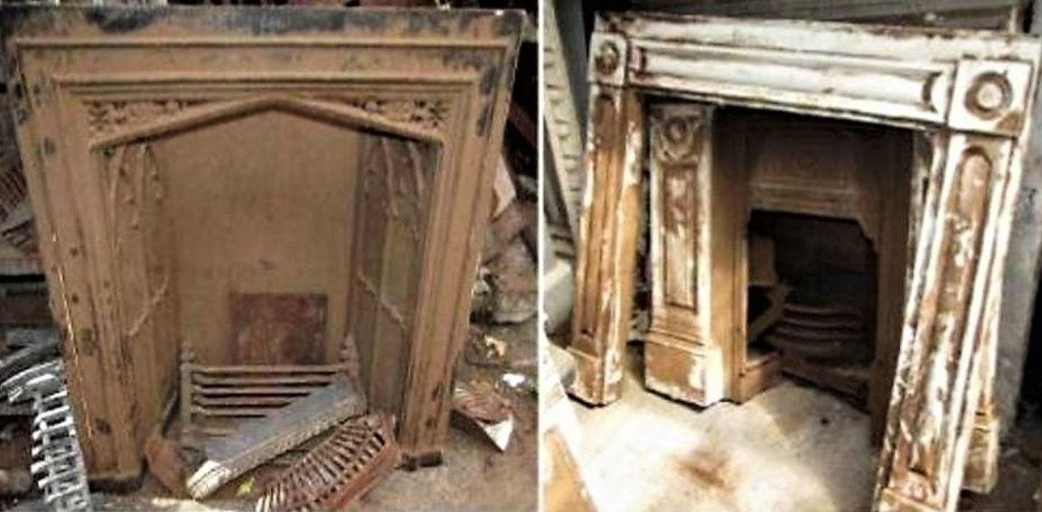 Antique Victorian Fireplace Restoration Bedroom UK Cast Iron Project Leicester - 1