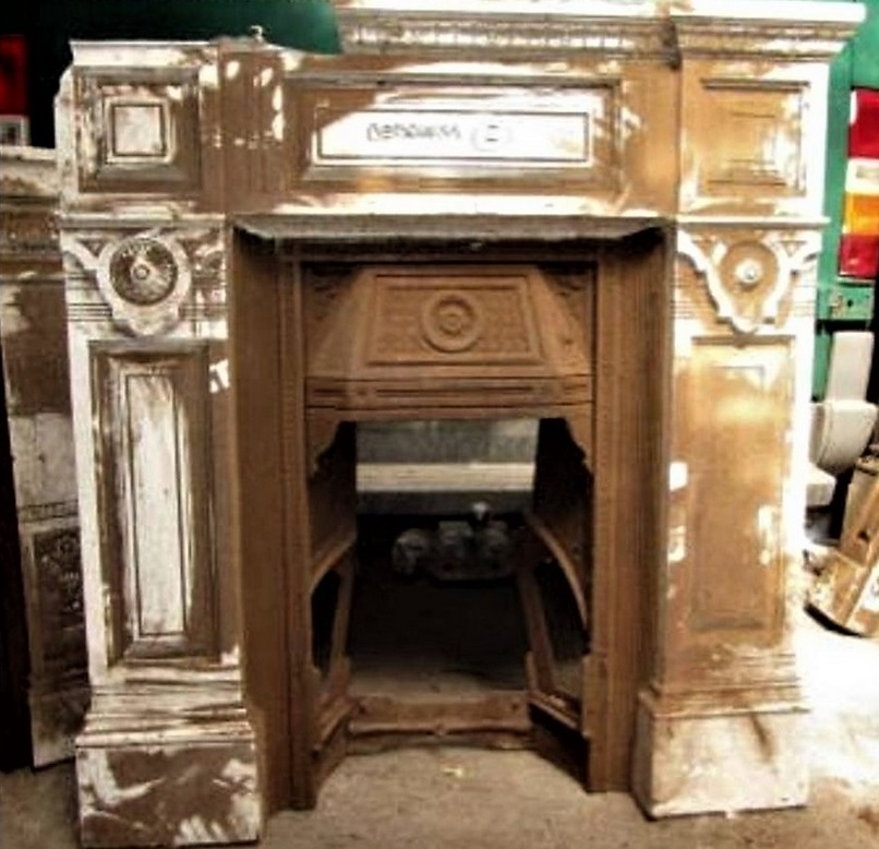 Antique Victorian Fireplace Restoration Bedroom UK Cast Iron Project Leicester - 3